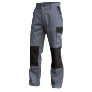 Pantalon Multipoches Coton Poly Gris Noir